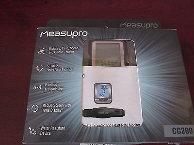 Measupro CC200 Wireless Cycle Computer and Heart Rate Monitor.
