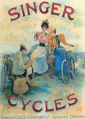 Singer Cycles Robert Opie Unused Postcard From Collection