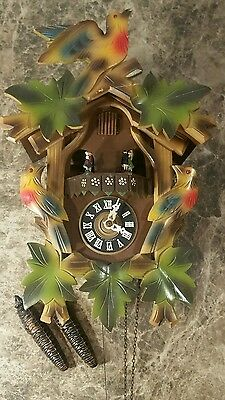 Black Forest West Germany Cuckoo Clock, All Working Mechanics # 46 With Dancers