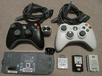 Xbox 360 Wireless Remote Controllers w/Battery & Charger & storage bundle