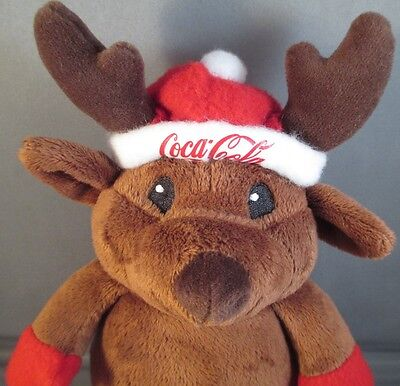 Coca-Cola Plush Christmas Reindeer Santa Claus Small Collector Stuffed