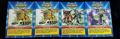 Digimon Taco Bell Set of 4 Tip Cards