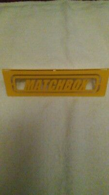 Matchbox sign metal