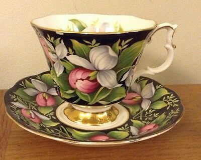"Royal Albert Provincial Flowers ""Lady's Slipper"" Cup And Saucer - 1st Quality"