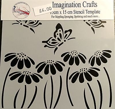 Imagination Crafts Butterfly and Daisy stencil