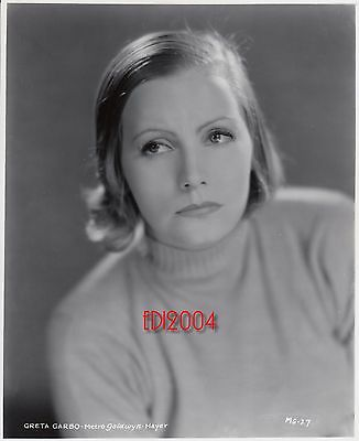 "GRETA GARBO Older Restrike RARE Photo 1933 ""QUEEN CHRISTINA"" Movie Portrait"