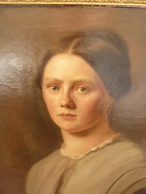 Fine Early 19th Century German? Portrait of a Lady Antique Oil Painting