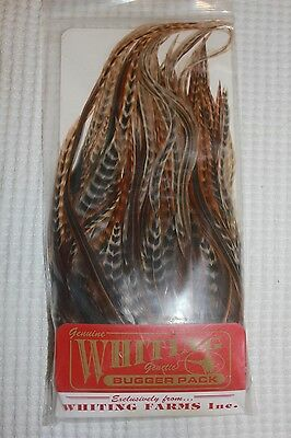 Whiting Barred Dark Ginger Bugger Pack Fly Tying Fishing Materials