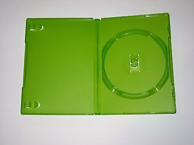31 Clear Green Color Single DVD/XBOX Cases