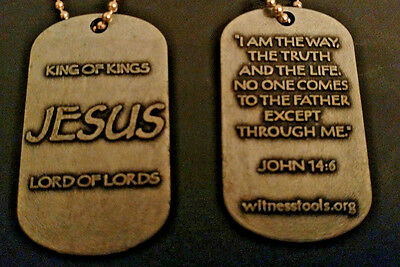 JESUS Tag - Lot of 300 @ $.85 each (Dog Tag)