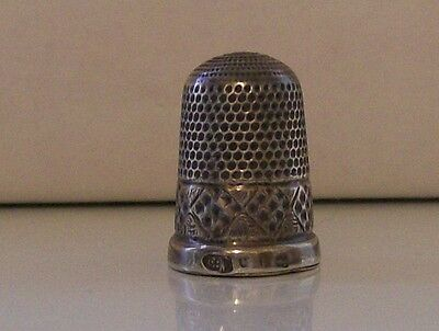 Silver Thimble by Maker EW (Birmingham) probably Late 1800s Rare