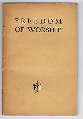Watch Tower - Freedom of Worship booklet (1943)