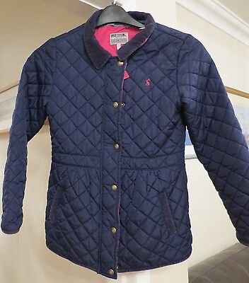 Joules Girls Navy Quilted Coat - Size 11-12 - Excellent condition