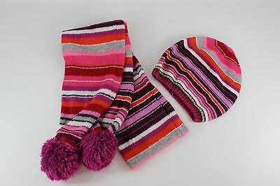 Old Navy Multicolored Striped Knit Scarf & Hat Set...size S/M  GUC
