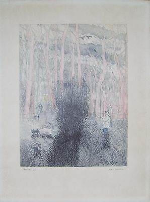 'Shooting' limited edition signed etching by Alan Lumsden