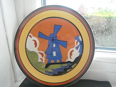 "CLARICE CLIFF ""WINDMILL"" PLATE by WEDGWOOD"