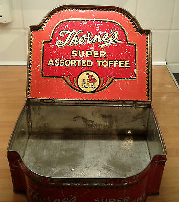 Antique Thorne's Super Assorted Toffee 4lbs Shop Display Tin Good Condition