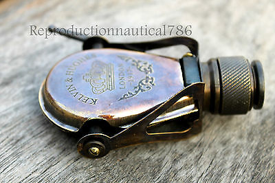 Vintage Antique Solid Brass Spyglass Monocular Nautical Pocket Gift Collectible
