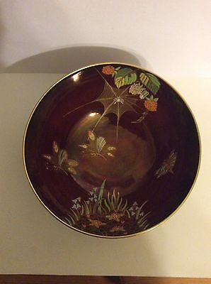 Carlton ware Rouge Royale Spiders Web Gilded Bowl