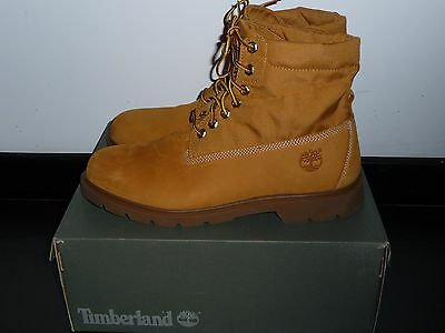 Superbes boots TIMBERLAND cuir et toile - Comme neuves !