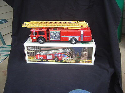 A HESS Toy Fire Truck Bank in Box