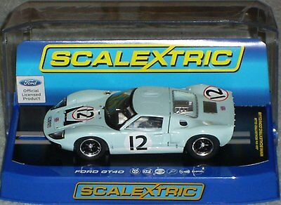 """C3533 SCALEXTRIC SLOT CAR.FORD GT40 1966 Le MANS """"RINDT/IRELAND"""", CAR No12 (NEW)"""