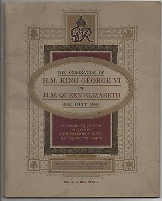1937 Coronation - Cigarette card album - some cards missing - see below