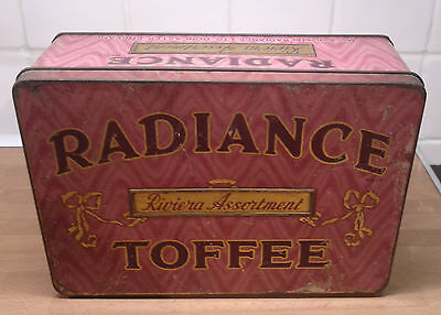 Vintage Radiance Riviera Assortment Toffee Tin 1920s VGC