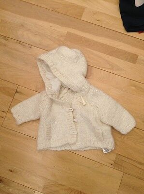Baby Girls Woolly Cardigan/coat Age 3-6 Months