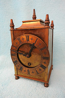 Vintage Brass Working Empire Lantern Style Clock.