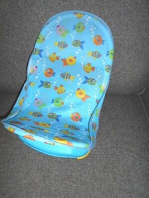 SUMMER INFANT deluxe blue baby bath support seat -  in vgc
