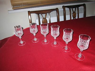 Vintage cristal D'Arques lead crystal sherry/small wine glasses