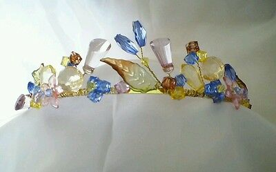 Handcrafted Cinderella Inspired Tiara Headress, Bridal, Prom, Fancy Dress Party