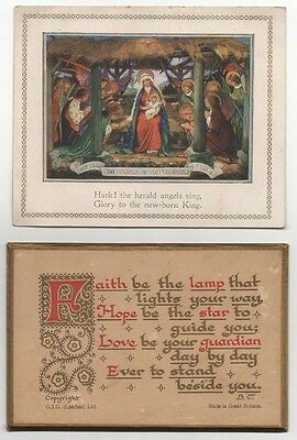 1930 Card For Xmas And Prayer Card - Church Collectable