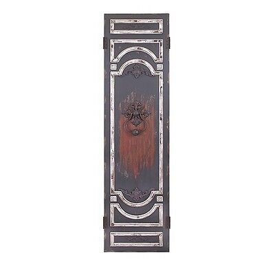 Antique Style Rustic Distressed  Hand Painted Wall/Door Panel,19.75'' X 77.5''H.