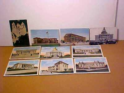 10 Panama-Pacific Int'l Exposition San Francisco 1915 State Buildings Postcards