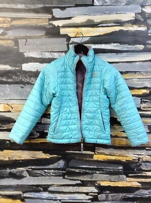 The North Face GIRLS' REVERSIBLE MOSSBUD SWIRL JACKET Size 7/8 Ice Green