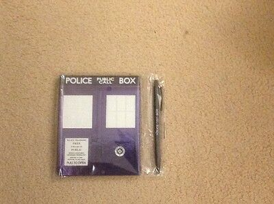 Doctor Who Police public box notebook and pen