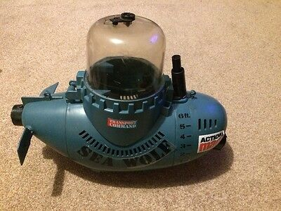 Vintage Action Man Sea Wolf Submarine