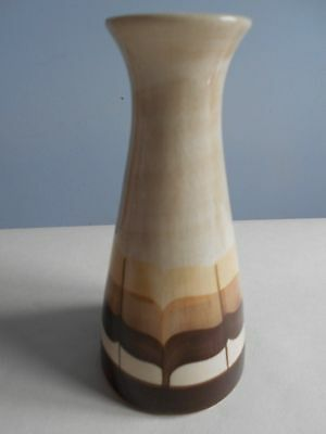 Tapered Jersey Pottery Cream & Chocolate Vase
