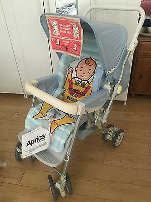 Vintage 1980s Baby Stroller Carriage Reborn Doll Never Used Aprica