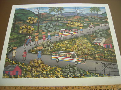 "Alix Baptiste ""The Village Road"" Print 19"" x 24""  - signed and numbered"