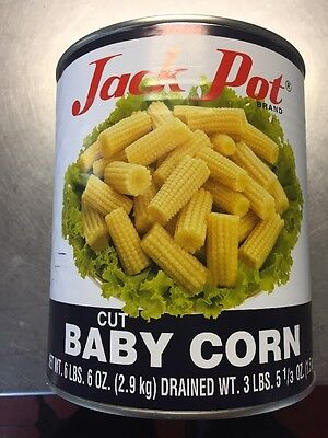 "Baby Corn ""cut-canned"". 6 Lbs (6 Oz.)"