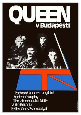 QUEEN *POSTER* Live in Budapest  - Rock Concert Freddie Mercury Brian May