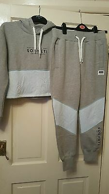 Brand New Sonnetti  Girls  Cropped Hoodie / Joggers.age 12 /13 Years