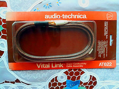 Audio Technica AT 622 Cable assembly.gold plated, (para platos o tocadiscos)