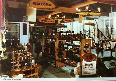 Gb 1982 Guernsey ,woodcarvers  Used Postcard From Collection