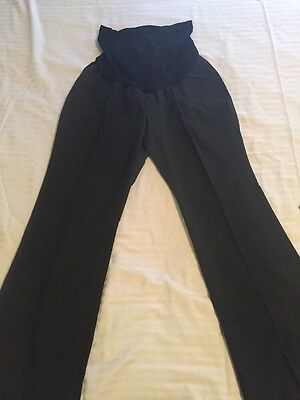 Pea In The Pod Charcoal Gray Dress Maternity Pants Size L