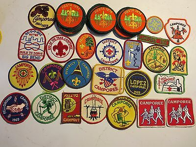 Boy Scout patches, generic camporees, most new, few used, around 90 items