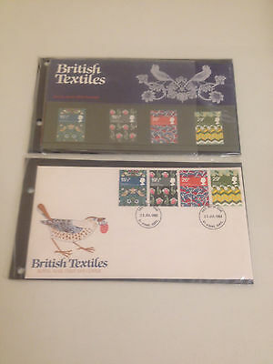 British Textiles Royal Mail 1st Day Cover Stamps 1982 *MINT CONDITION*